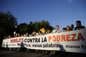 Citizens rally in Madrid on International Day of Poverty Eradication